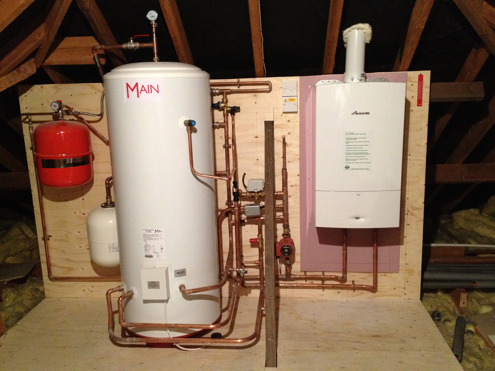 Pearsons the Plumber | New Sealed Cylinder and Boiler